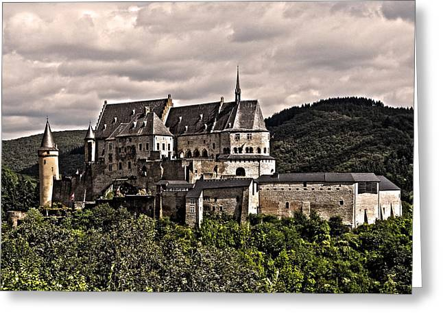Grau Greeting Cards - Vianden Castle - Luxembourg Greeting Card by Juergen Weiss