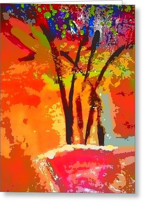 Survivor Digital Greeting Cards - Vibrant Bouquet Greeting Card by Angela L Walker