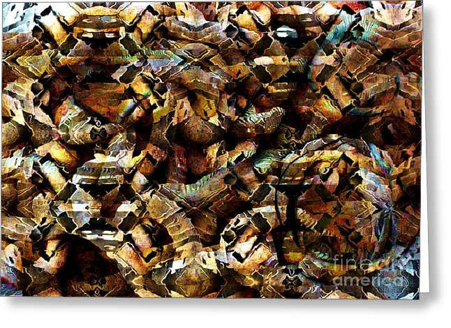 Cardboard Digital Art Greeting Cards - Vibrations Greeting Card by Ron Bissett