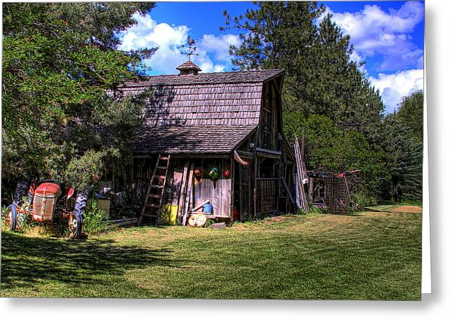 Vic Moore's Barn Greeting Card by David Patterson