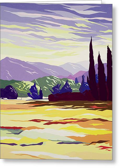 Tuscan Greeting Cards - Vicopelago - Lucca Greeting Card by Derek Crow