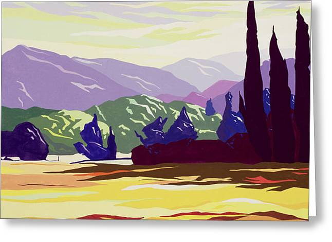 Vicopelago - Lucca Greeting Card by Derek Crow
