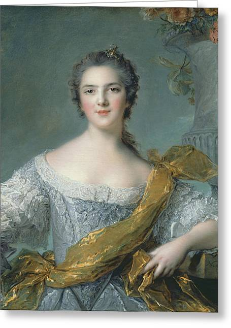 Aristocrat Greeting Cards - Victoire de France at Fontevrault Greeting Card by Jean Marc Nattier