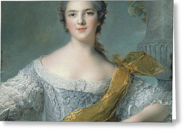Victoire de France at Fontevrault Greeting Card by Jean Marc Nattier