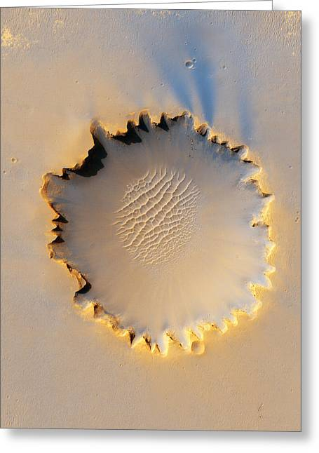 3 October Greeting Cards - Victoria Crater, Mars, Mro Image Greeting Card by Nasajplu. Arizona