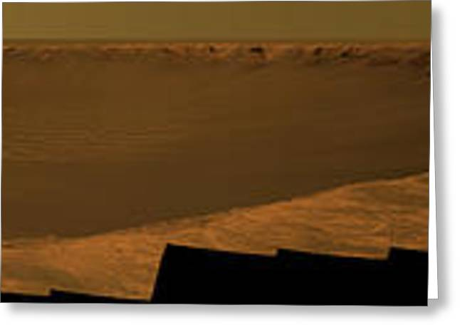 Victoria Crater Greeting Cards - Victoria Crater, Mars Greeting Card by NASA / JPL-Caltech / Cornell Univserity