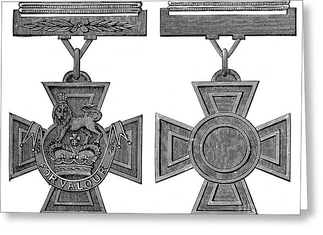 Warrant Greeting Cards - Victoria Cross, 1856 Greeting Card by Granger
