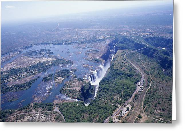 Victoria Falls Greeting Card by Carlos Dominguez
