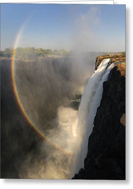 Southern Province Greeting Cards - Victoria Falls Greeting Card by Christian Heeb