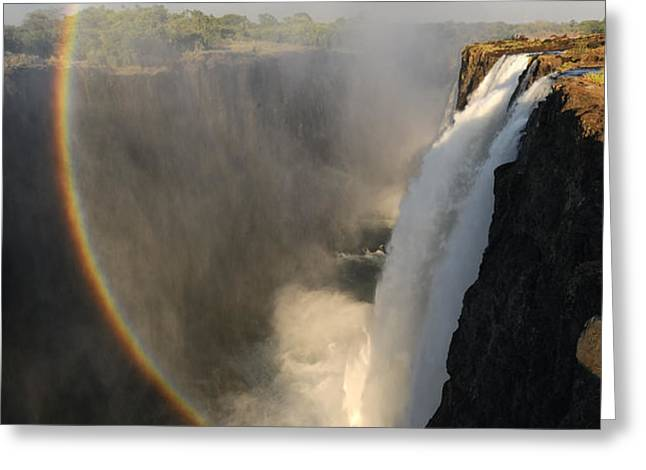 Victoria Falls Greeting Card by Christian Heeb