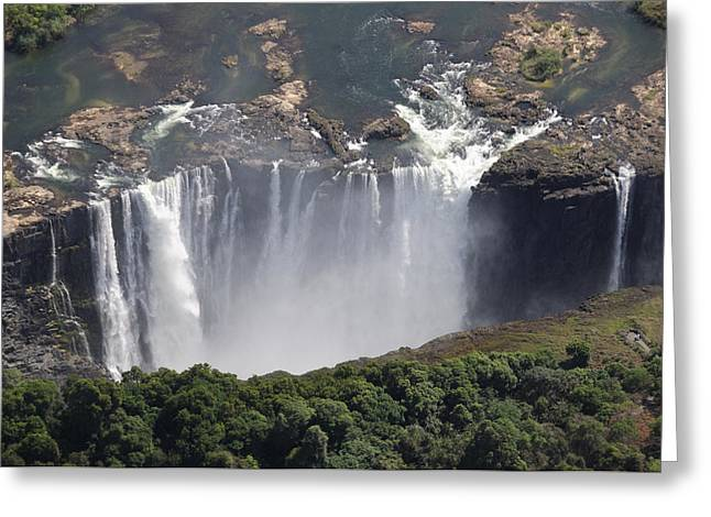 Southern Province Greeting Cards - Victoria Falls II Greeting Card by Christian Heeb