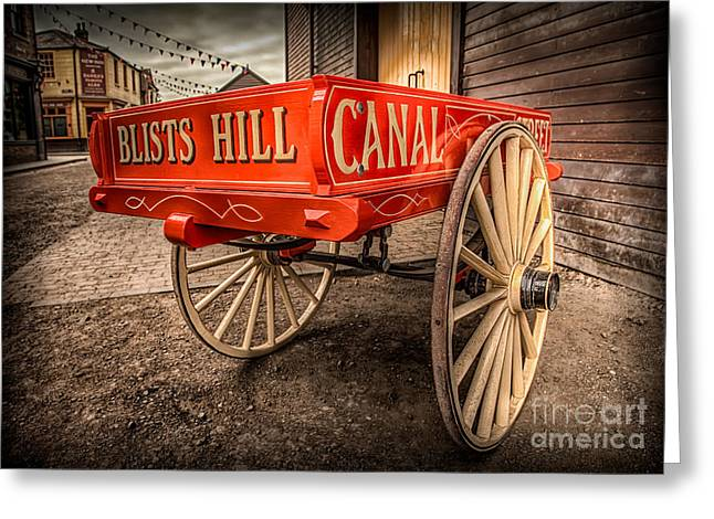 Cart Digital Art Greeting Cards - Victorian Cart Greeting Card by Adrian Evans