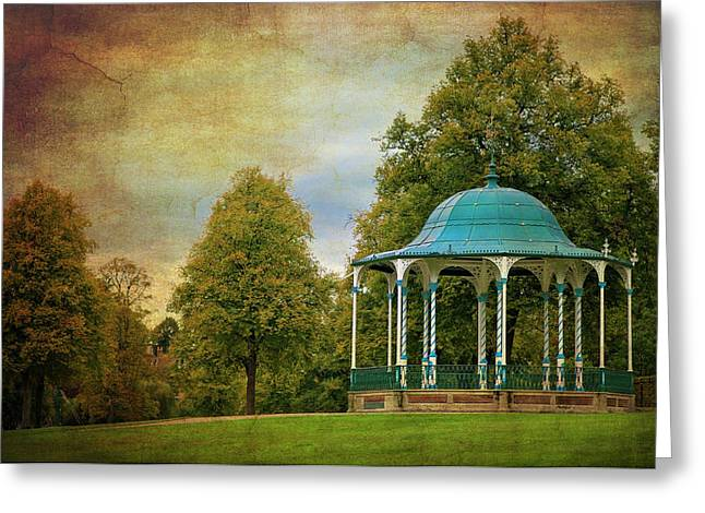 Bandstand Greeting Cards - Victorian Entertainment Greeting Card by Meirion Matthias