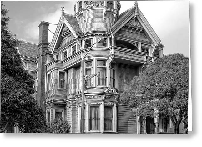 VICTORIAN HAAS LILIENTHAL HOUSE in SAN FRANCISCO Greeting Card by Daniel Hagerman