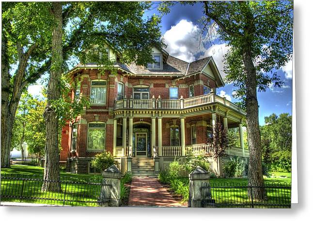 Victorian Home Greeting Cards - Victorian Mansion Greeting Card by Jon Berghoff