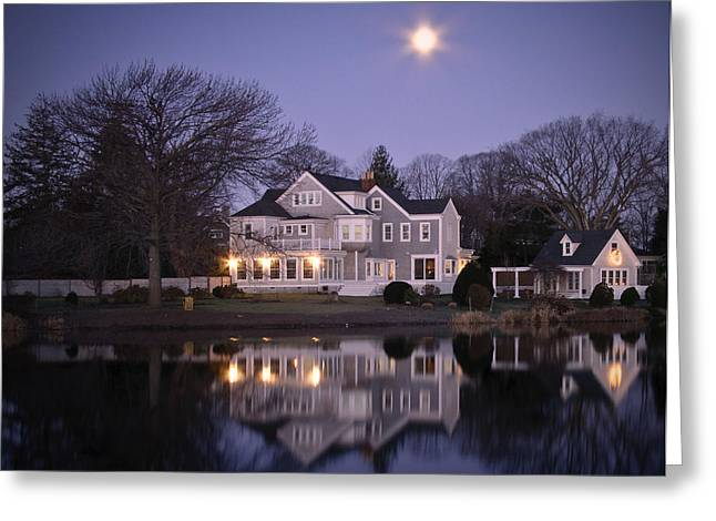 Babylon Village Greeting Cards - Victorian Moon in Purple Greeting Card by Vicki Jauron
