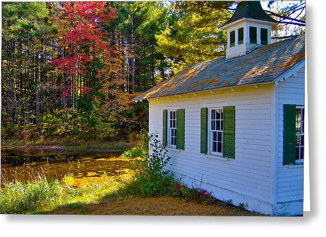 Dappled Light Greeting Cards - Victorian Shed in Fall 5 Greeting Card by George Ramos
