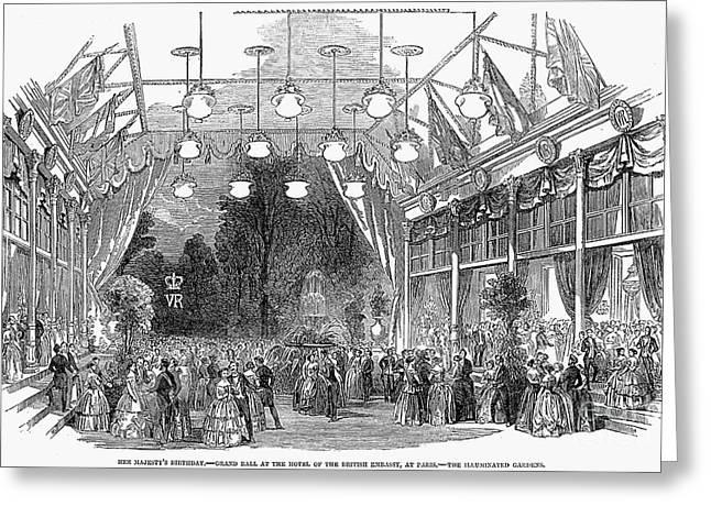 Royal Gala Greeting Cards - Victorias Birthday, 1853 Greeting Card by Granger