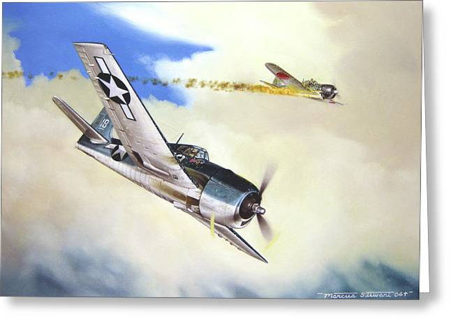 Military Airplanes Greeting Cards - Victory For Vraciu Greeting Card by Marc Stewart