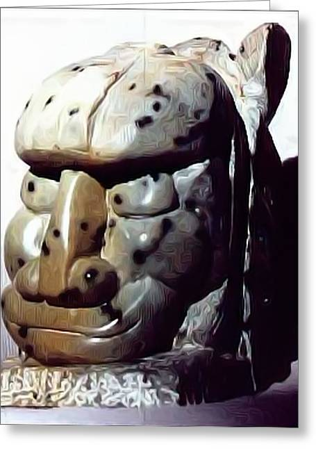 Stones Sculptures Greeting Cards - Victory Greeting Card by James Bryron Love