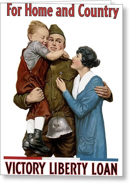 World War One Greeting Cards - Victory Liberty Loan Greeting Card by War Is Hell Store