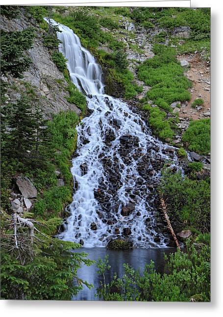 Clean Water Greeting Cards - Vidae Falls Crater Lake National Park Greeting Card by Pierre Leclerc Photography