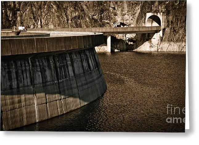Hydroelectric Greeting Cards - Vidraru Dam Greeting Card by Gabriela Insuratelu