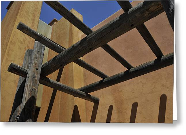 Pueblo Architecture Greeting Cards - Viejas Mall Door Entry Greeting Card by Martina Thompson