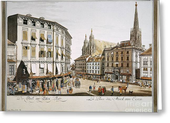 VIENNA, 1779 Greeting Card by Granger