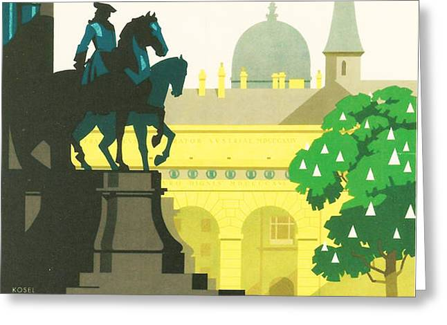 Vienna Greeting Card by Nomad Art And  Design