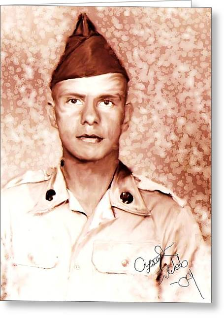 Solider Greeting Cards - Vietnam Solider Greeting Card by Crystal Webb