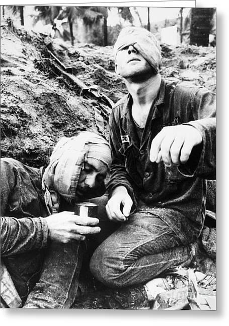 Medic Greeting Cards - Vietnam War Medic 1966 Greeting Card by Granger