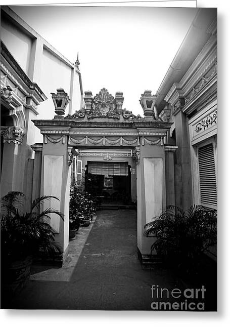 Thanh Tran Greeting Cards - Vietnamese French Archway Greeting Card by Thanh Tran