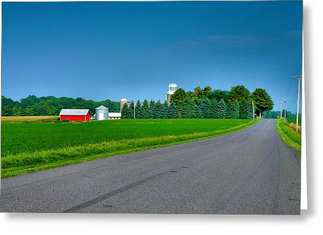 Farm Framed Prints Greeting Cards - View From A Country Road Greeting Card by Steven Ainsworth