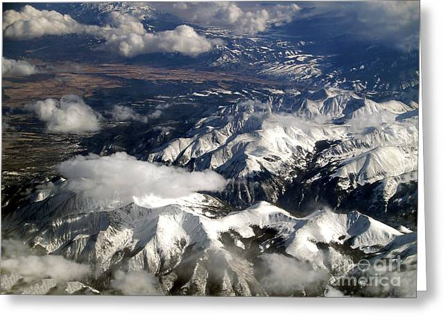 Terra Firma Greeting Cards - View from Above II Greeting Card by Patricia Griffin Brett