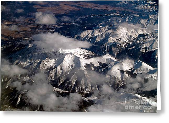 Terra Firma Greeting Cards - View from Above III Greeting Card by Patricia Griffin Brett