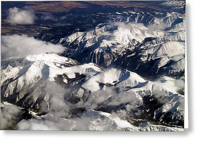 Terra Firma Greeting Cards - View From Above IV Greeting Card by Patricia Griffin Brett