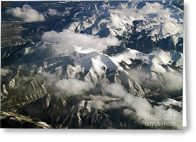 Terra Firma Greeting Cards - View From Above Greeting Card by Patricia Griffin Brett