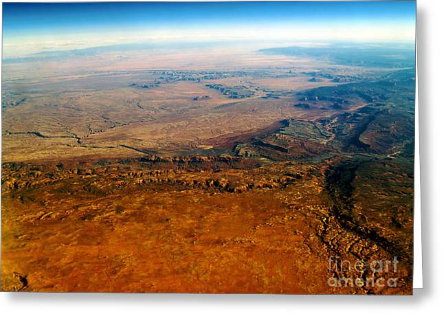 Terra Firma Greeting Cards - View From Above VI Greeting Card by Patricia Griffin Brett