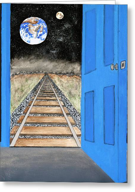 Origional Greeting Cards - View From Another Planet Greeting Card by Michael Ledray
