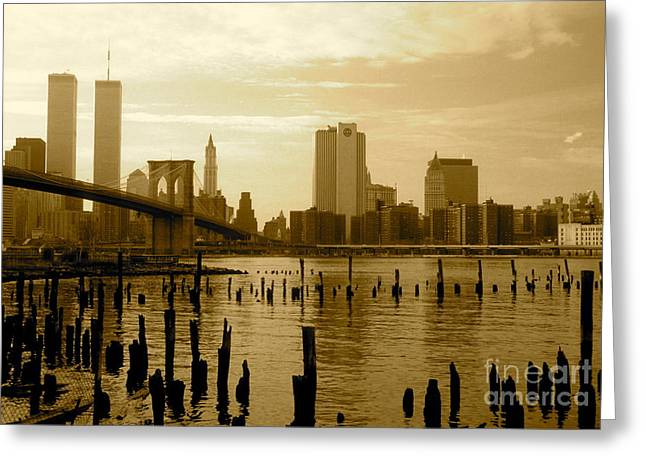 View From Brooklyn Bridge Park Greeting Card by Mark Gilman