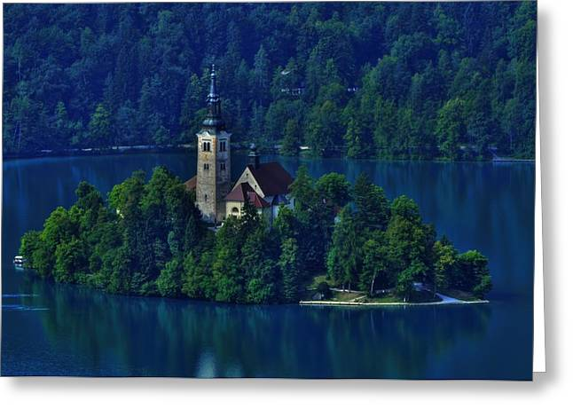 Bled Greeting Cards - View from Castle Greeting Card by Don Wolf