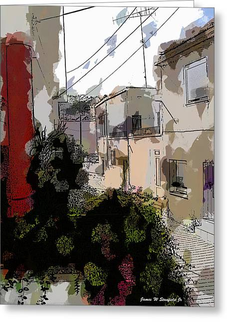 Crete Greeting Cards - View from kitchen window --29 Greeting Card by James Stanfield