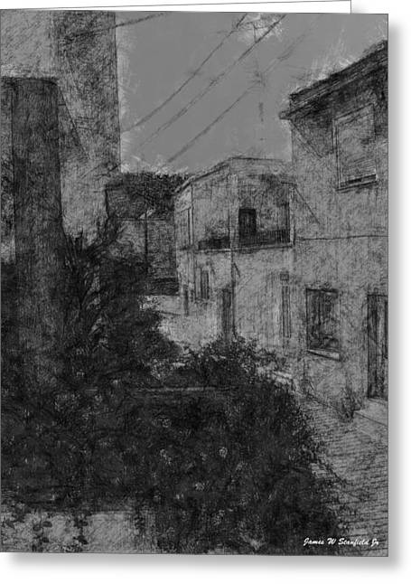View From Kitchen Window - Iv Greeting Card by James Stanfield