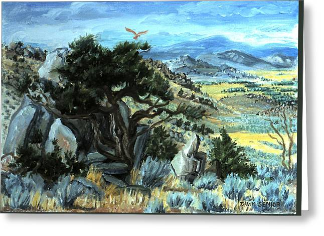 Mountain Valley Greeting Cards - View from Little Mountain Greeting Card by Dawn Senior-Trask