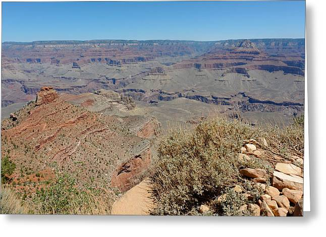 South Kaibab Trail Greeting Cards - View from Ooh Aah Point Greeting Card by Julie Niemela