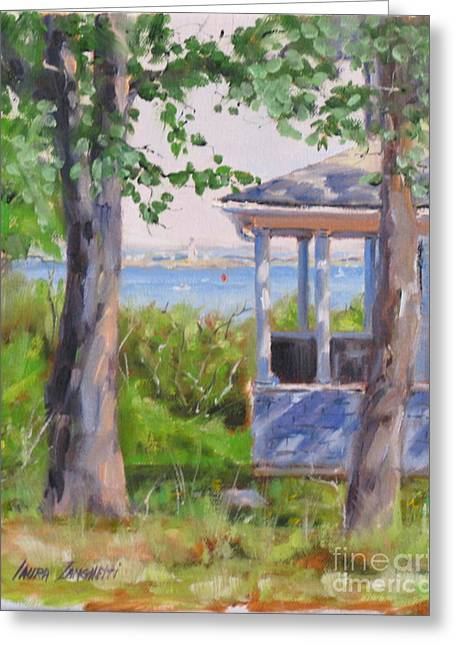 Hull Ma Greeting Cards - View from Pointe Allerton Greeting Card by Laura Lee Zanghetti