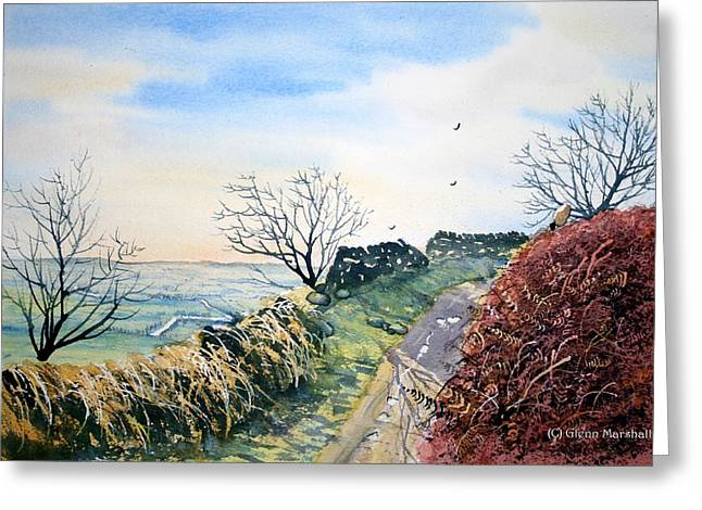 Sutton Paintings Greeting Cards - View from Sutton Bank in North Yorkshire Greeting Card by Glenn Marshall