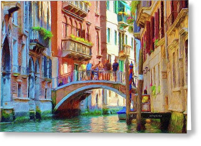 View from the Canal Greeting Card by Jeff Kolker