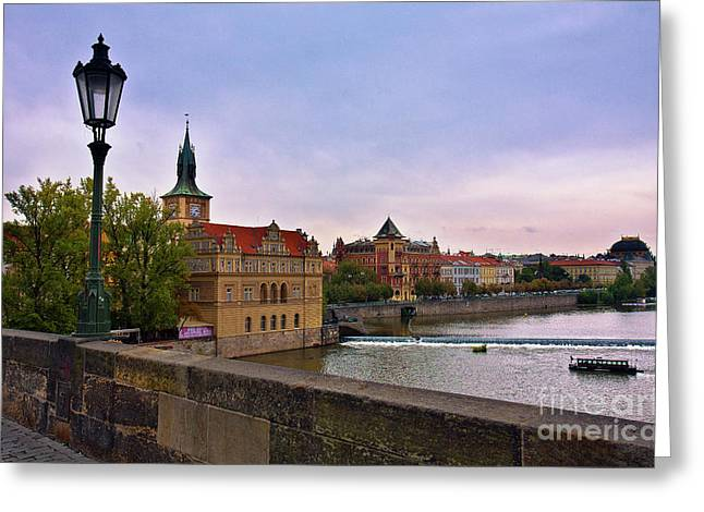 View from the Charles Bridge Revisited Greeting Card by Madeline Ellis